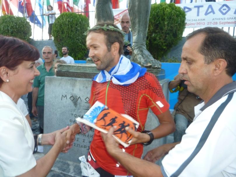31st  Spartathlon , Giannis Papakostas - Finish