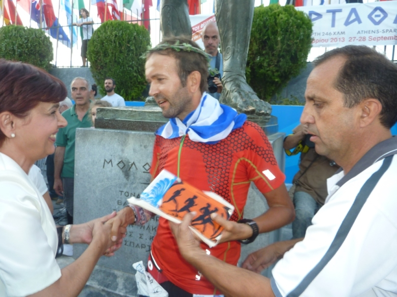 31st  Spartathlon , Giannis Papakostas - Finish